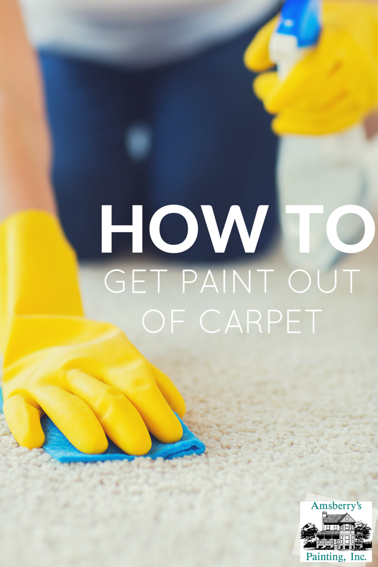 how to get paint out of carpet amsberry 39 s painting