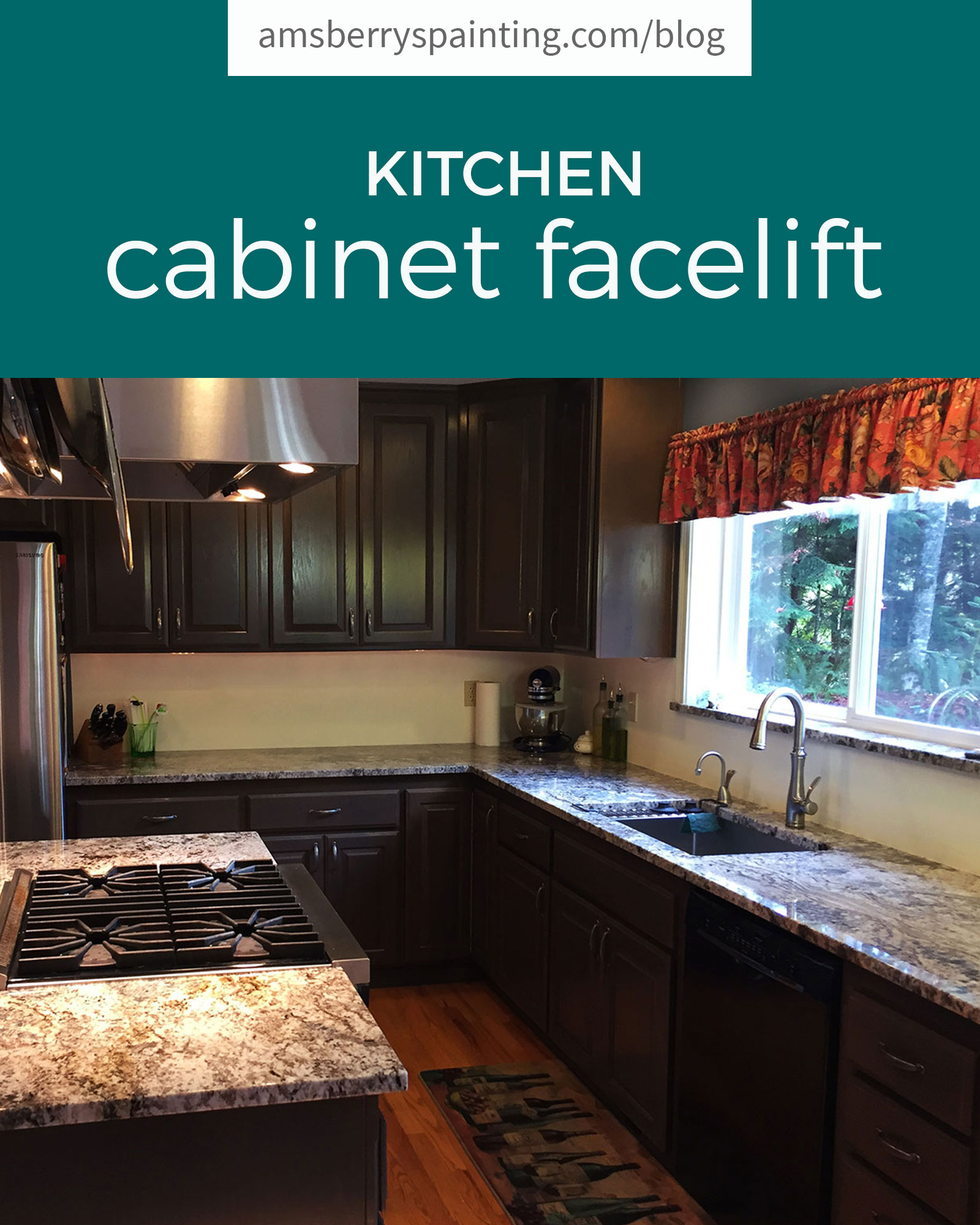 kitchen cabinet facelift - amsberry's painting