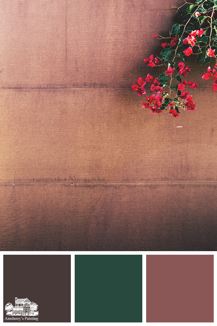 Color Palette // Rusted Tones SW6069 French Roast, SW6468 Hunt Club, SW6313 Kirsch Red
