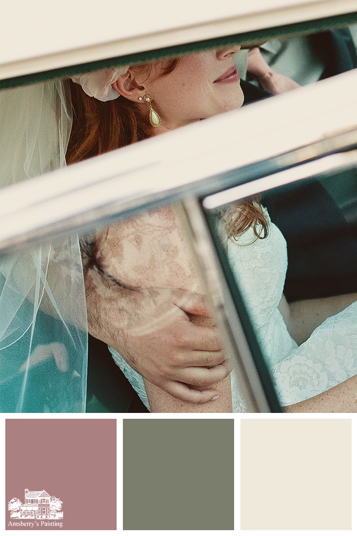 Color Palette // Wedding Bell Hues SW9001 Audrey's Blush, SW6194 Basil, SW7562 Roman Column