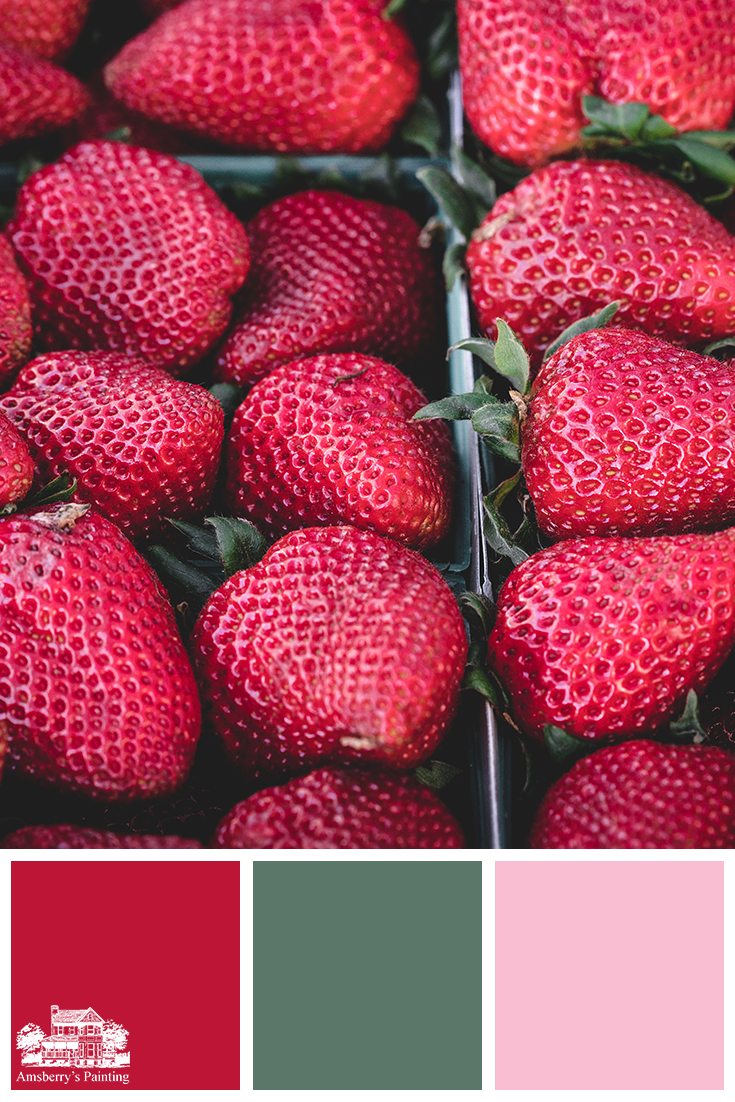 Color Palette // Fresh Picked Hues SW6868 Real Red, SW6459 Jadite, SW6583 In the Pink