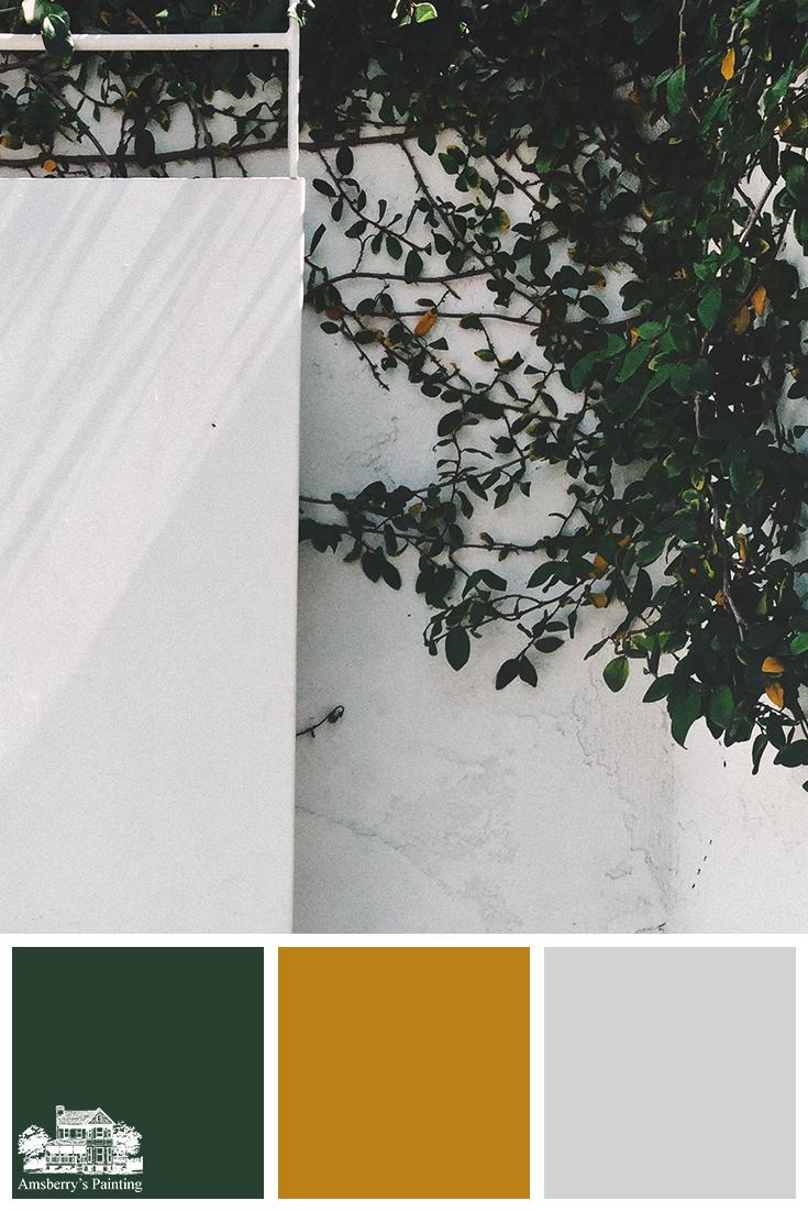 Color Palette // Lovely Intruder SW2847 Roycroft Bottle Green, SW6692 Auric, SW7662 Evening Shadow