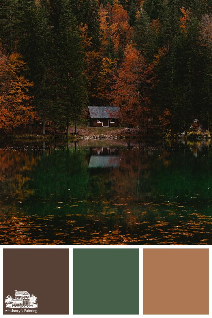Color Palette // Hidden Treasures SW6076 Turkish Coffee, SW6447 Evergreens, SW7710 Brandywine