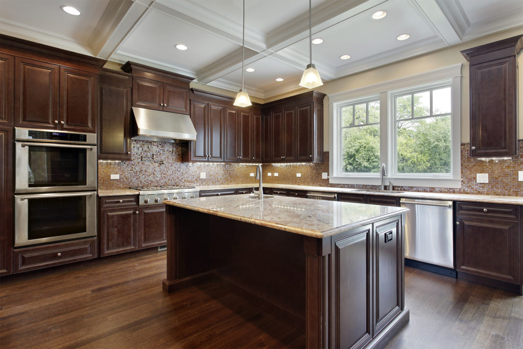 Outdated Kitchen Cabinets Look, How To Stain Kitchen Cabinets Darker