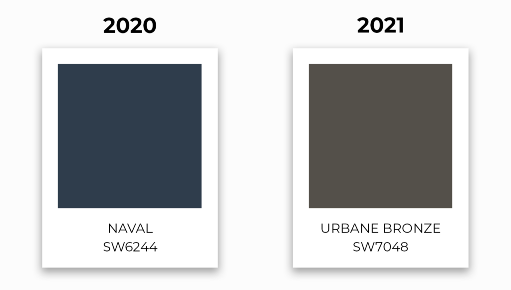 SW 2020-2021 paint color swatches